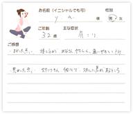 Y.Aさん 32歳 男性