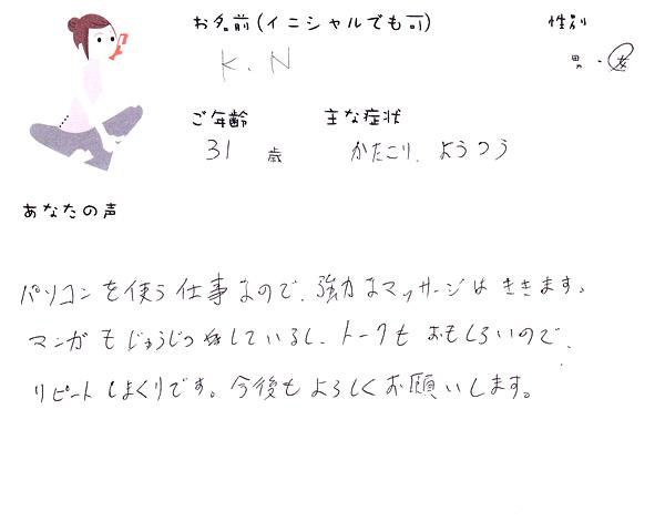 K.Nさん 31歳 女性