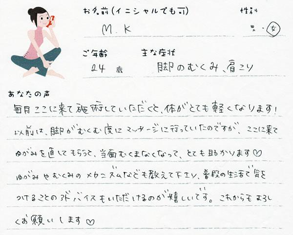 M.Kさん 24歳 女性