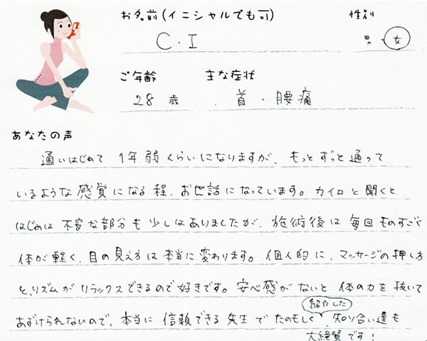C.Iさん 28歳 女性