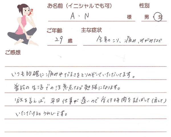 A.Nさん 29歳 女性