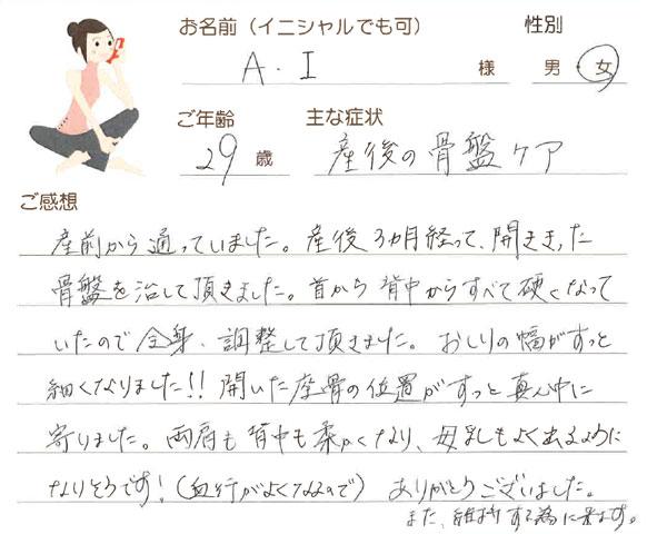 A.Iさん 29歳 女性